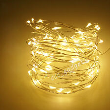 4M Warm White Battery Operated Waterproof Flexible Fairy Light Tree Garland Cup
