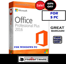 Microsoft Office Professional Plus 2016 Pro Plus Licence Key for 5PCs Download