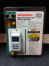 Sylvania DIGITAL WALL SWITCH TIMER T170 15 amps detect sunset time sunrise 7 day