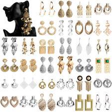 Womens Gold Silver Plated Pearl Earrings Dangle Drop Ear Stud Statement Jewelry