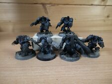 5 PLASTIC WARHAMMER SPACE WOLVES TERMNATORS AND WOLF LORD PART PAINTED (933)