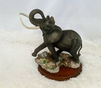 "VTG 89 FRANKLIN MINT ELEPHANT ""Ruler of the African Plains"" Porcelain Hand Paint"