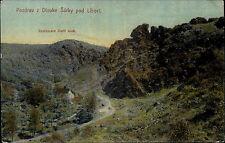 Vodovice Tschechien Color AK ~1920/30 Pozdrav z Divoke Šárky pod Liboci Panorama