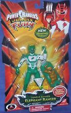 "Power Rangers Jungle Fury 5"" Green Jungle Master Elephant Ranger New 2008"