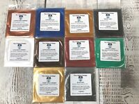Mica Powder 10 Pk Sample Shimmer Pigment for Epoxy Resin Art, Soap, 2g Pks A6
