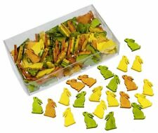 144 Stk Hasen HOLZ gelb orange grün Deko Osterhasen Häschen Basteln Osterdeko