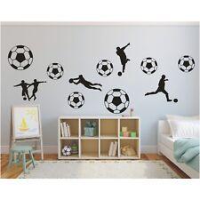 Wandtattoo 11 teiliges Set  Fußball Spieler Wandsticker Wandaufkleber Sticker
