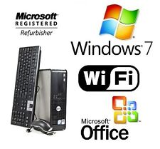 Dell Optiplex 740 Tower Desktop Windows 7 Pro 8GB 1TB Nvidia AMD Dual Core WiFi