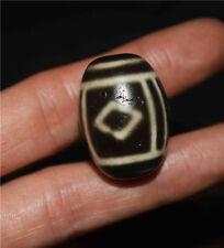 necklace pendant pure gzi eyed tibetan dzi bead old amulet 3 eyes agate antique