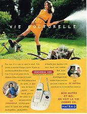 PUBLICITE ADVERTISING 094  1996  MATRA  téléphone sans fil SENSORIA 400