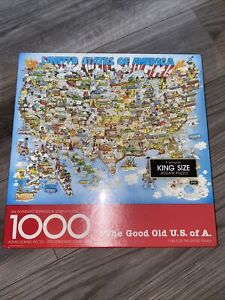 Vintage Springbok The Good Old U.S. of A. United States Map 1000 Puzzle New
