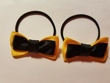 Madelienas Inspired Emma Wiggle  SMALL  Bow hair ties .a pair as pictured