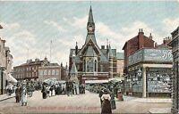 Bedfordshire Postcard - Corn Exchange and Market, Luton    A5325