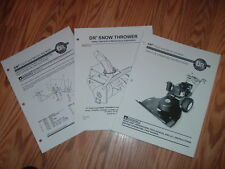 DR FIELD & BRUSH  OWNERS MANUALS SET OF THREE
