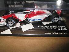 MINICHAMPS 1.43 F1 PANASONIC TOYOTA RACING 2003 PRESENTATION CAR O PANIS AWESOME