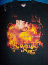 Tim McGraw t shirt 2001 tour men's size LARGE