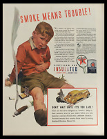 1941 Texaco Havoline Motor Oil Insulated Vintage Print Ad