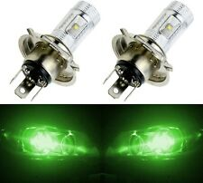 LED 30W 9003 HB2 H4 Green Two Bulbs Head Light Replace Show Use Off Road Style