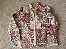 Womens Ladies Alfred Dunner Sz 16 Light Weight Polyester Jacket Multi Tan Brown