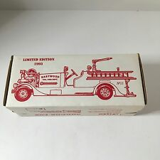 ERTL Eastwood Volunteer Fire Dept Ahrens-Fox 1993 Ltd Ed Coin Bank #9748