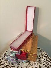 NEW 12 ASST Christmas Cardboard Jewelry Watch Bracelet Necklace Gift Box  w/Fill