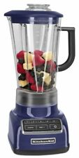 KitchenAid KSB1570BU 5 Speed Blender 56oz BPA Free Diamond Pitcher Cobalt Blue