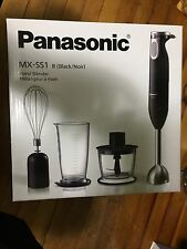 New Panasonic Mx Ss1 Hand Held Immersion Blender Black- Brand New