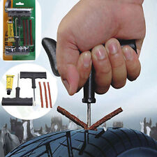 Car Tubeless Tyre Tire Puncture Tool Repair Plug Kit Needle Patch Fix Tools Easy