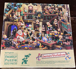 Vintage Springbok SANTAS WORKSHOP 500 Piece Jigsaw CHRISTMAS PUZZLE 1984 Elves