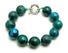 """14mm Round Green Natural Chrysocolla Stone Bracelet for Women 7.5"""" Jewelry br167"""