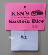 LAVENDER w WHITE DOTS DICE 1:24 1:25  KEN'S KUSTOM CAR MODEL ACCESSORY D10