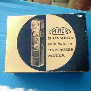 Minox B Camera Exposure Meter Box instructions and booklet paperwork no Meter