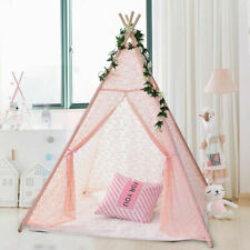 Pink Lace Teepee Tent Kids Girls Wedding Party Decor Indoor Playhouse Wigwam.
