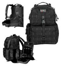 G.P.S. Tactical Range Backpack BLACK Shooting Range Bag Pistol Travel Case Hunt,