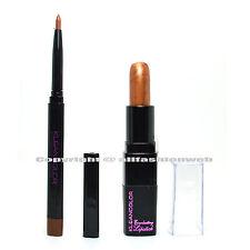 2 Colors Kleancolor 1 Eye Lip Liner Auburn + 1 Creamy Lipstick Copper LINERK12