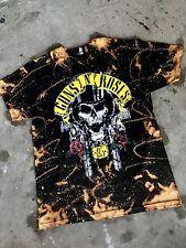 Guns N Roses 85  Bleached Vintage T Shirt New Large