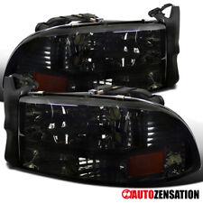 For 1997-2004 Dakota 1998-2003 Durango Smoke Lens Headlights Lamps Left+Right