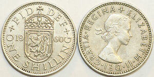 1953 to 1966 Elizabeth II Cupro-Nickel Scottish Shilling Choice of Date / Year