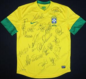BRAZIL team signed Nike jersey 2012 Olympic Games London Neymar Marcelo 21 autos