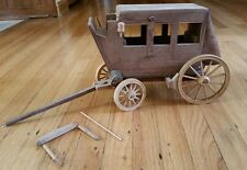 Craft Master Wagons of the Old West  Kit Stage Coach Wood assembled nice