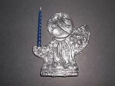 Vintage Blenko Art Glass ANGEL Candle Holder CRYSTAL CLEAR