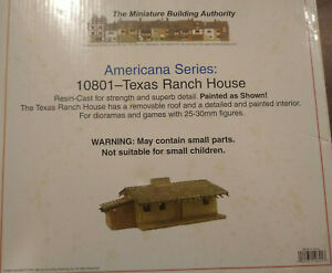 MBA 25mm Americana Series 10801 Texas Ranch House Miniature Building Authority