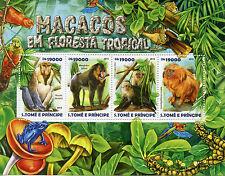 Sao Tome & Principe 2015 MNH Monkeys Tropical Forest 4v M/S Mandrill Macacos