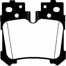 DP41812R EBC Yellowstuff Rear Brake Pads fit LEXUS LS460 LS600h
