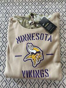 Minnesota Vikings Tan Salute To Service Sweatshirt size XL NWT
