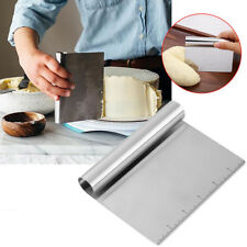 Stainless Steel Bench Dough Board Scraper Guide Handle Gadget Cake Tool Kitchen