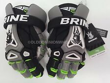 "NEW Brine King 5 RP3 Black / Grey / Lime Medium 12"" Lacrosse Gloves"