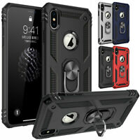 For iPhone XS Max X XR Shockproof Phone Case Cover Armor 360 Stand Ring Holder