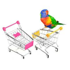 Parrot Bird Mini Supermarket Shopping Cart Intelligence Growth Training Kid Toys