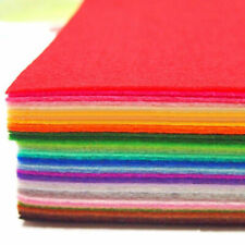 40pcs Set Colorful Felt Sheets Rainbow DIY Craft Polyester Wool Blend Fabric Kit